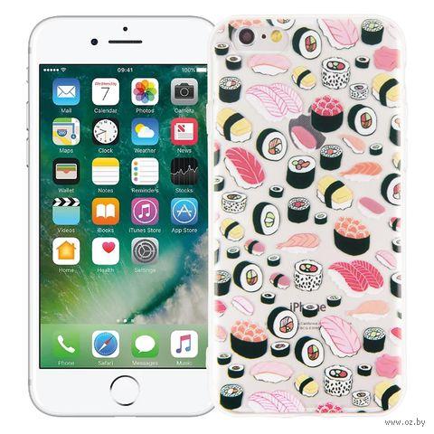 """Чехол для iPhone 6 """"Суши-сет"""" (прозрачный) — фото, картинка"""