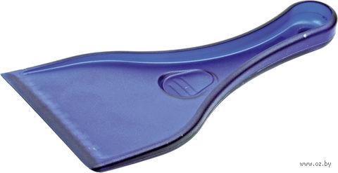 Скребок для очистки стекол автомобиля от снега и льда (синий)