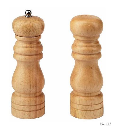 Набор для специй деревянный (мельница для перца, солонка, арт. 360502)