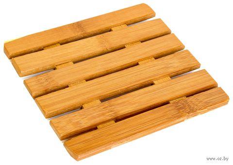 Подставка под горячее бамбуковая (125х125 мм)