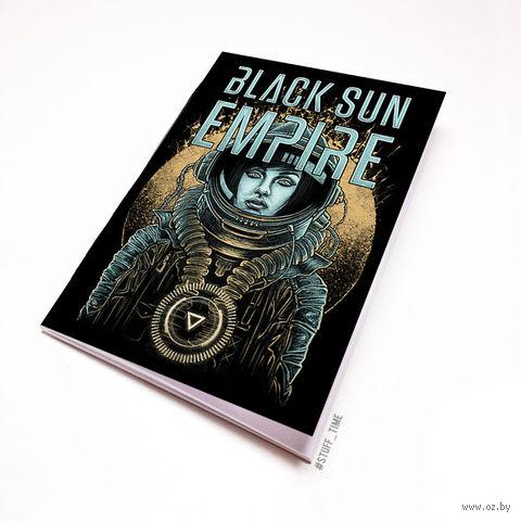 "Блокнот белый ""Black sun Empire"" А6 (245)"
