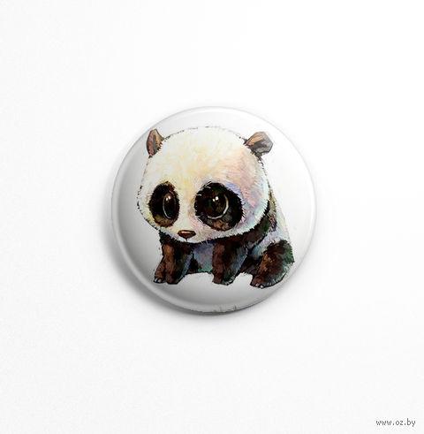 "Значок маленький ""Панда"" (арт. 247) — фото, картинка"