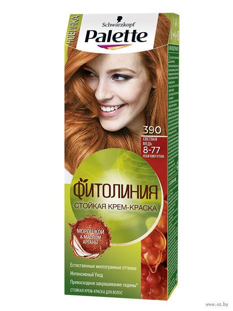 """Крем-краска для волос """"Фитолиния"""" тон: 390, светлая медь — фото, картинка"""