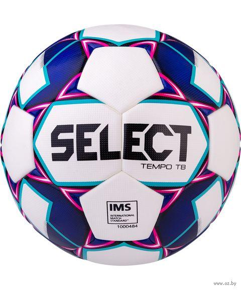 """Мяч футбольный Select """"Tempo TB"""" №5 (белый/фиолетовый/синий) — фото, картинка"""