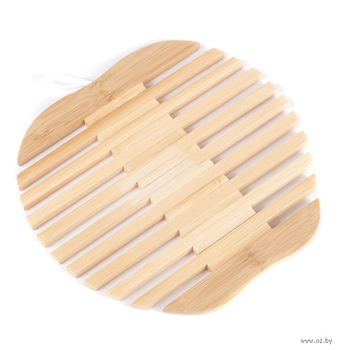 Подставка под горячее бамбуковая (18*18 см)