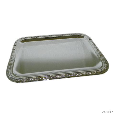 Поднос металлический прямоугольный (42х31 см; арт. 4120019)