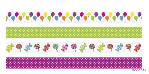 Скотч декоративный для скрапбукинга (арт. 203584361; 4 вида) — фото, картинка
