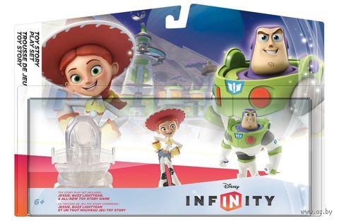 """Disney Infinity. Набор """"2+1"""". """"История игрушек"""" (Базз Лайтер, Джесси, Локация """"История игрушек"""")"""