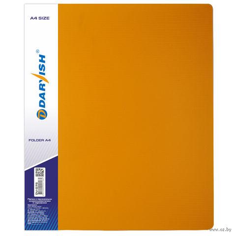 """Папка """"Darvish"""" с пружинным скоросшивателем DV-07S (А4; цвет: желтый)"""