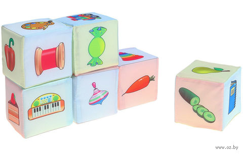 "Кубики ""Съедобное-несъедобное"" (6 шт) — фото, картинка"
