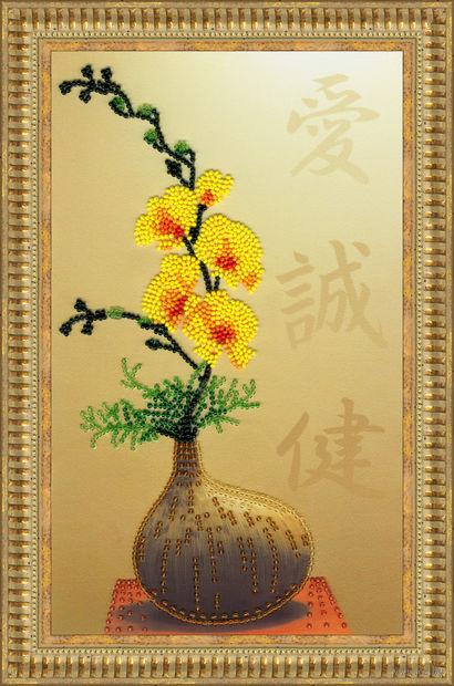 "Вышивка бисером ""Икебана"" (269х163 мм) — фото, картинка"