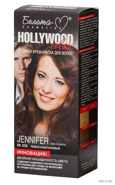"""Крем-краска для волос """"Hollywood color"""" (тон: 335, дженнифер) — фото, картинка"""