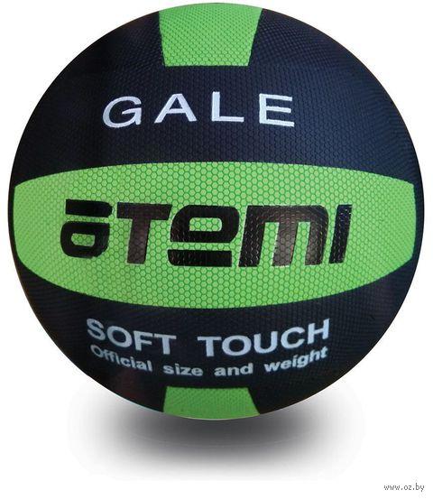 """Мяч волейбольный Atemi """"Gale"""" №5 (чёрно-салатовый) — фото, картинка"""