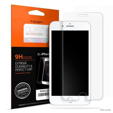 """Защитное стекло Spigen для iPhone 8/7 """"Glas.tR SLIM"""" (1шт) (042GL20607) — фото, картинка"""