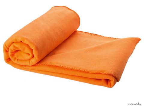 """Плед в чехле """"Huggy"""" (оранжевый) — фото, картинка"""