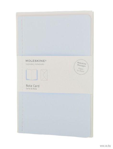 """Почтовый набор Молескин """"Note Card"""" с конвертом (большой; мягкая голубая обложка)"""