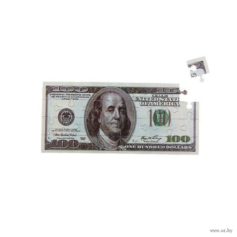 "Магнит пластмассовый ""Пазл-100 долларов"" (70х155 мм; арт. 10416126)"