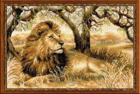 """Вышивка крестом """"Царь зверей"""" (600х400 мм) — фото, картинка"""