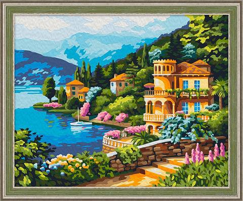 "Картина по номерам ""Вид озера Комо"" (400х500 мм) — фото, картинка"