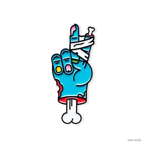 """Значок """"Синяя рука зомби"""" — фото, картинка"""
