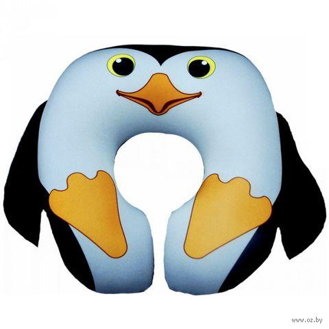 "Подушка под шею ""Пингвин"" (чёрная; арт. Апш01мул03) — фото, картинка"