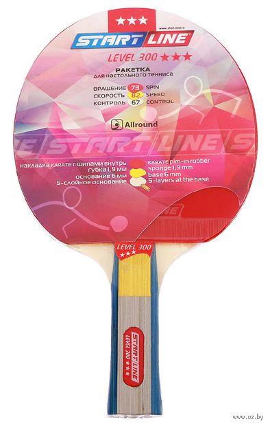 """Ракетка для настольного тенниса """"Level 300"""" (анатомическая; 3 звезды; арт. 12401) — фото, картинка"""