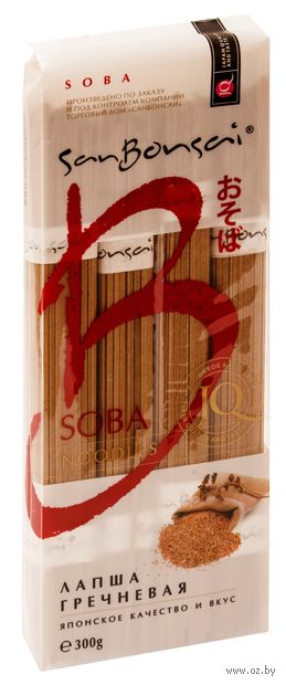 "Лапша гречневая ""SanBonsai. Soba"" (300 г) — фото, картинка"