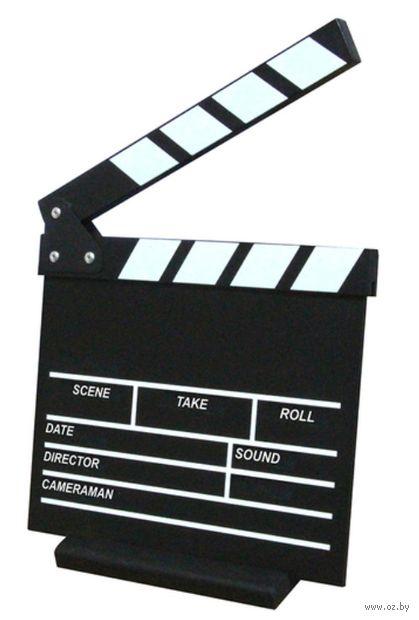 Кинохлопушка меловая (на английском языке) — фото, картинка