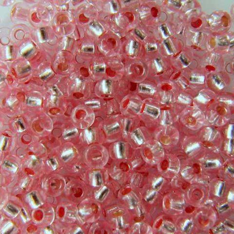 Бисер прозрачный с серебристым центром №08273 (светло-розовый; 10/0)