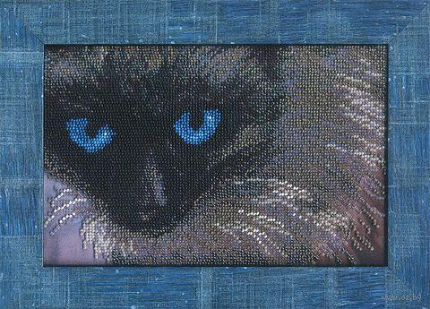 """Вышивка бисером """"Сиамский кот"""""""