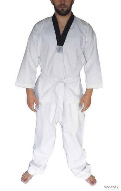 Кимоно для таэквондо ВТФ AX6 (р.44-46/160; белое; с шелкографией) — фото, картинка