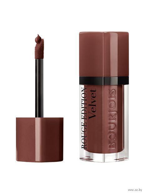 """Помада-флюид для губ """"Rouge edition velvet"""" (тон: 33, терракотовый) — фото, картинка"""