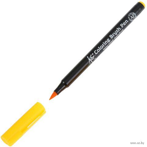 """Брашпен """"Koi Coloring Brush Pen"""" (желтый насыщенный) — фото, картинка"""