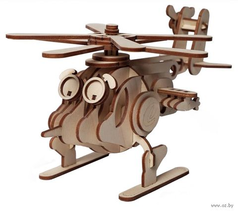 """Сборная деревянная модель """"Вертолет Серж"""" — фото, картинка"""