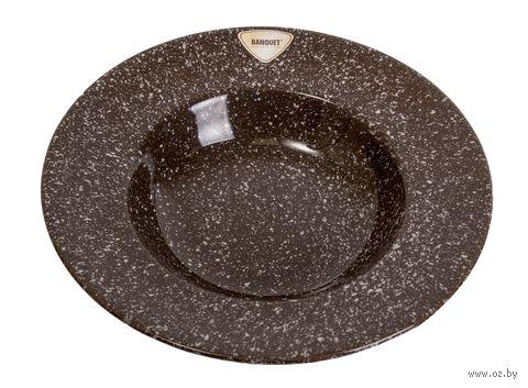Тарелка керамическая (238 мм; гранит) — фото, картинка
