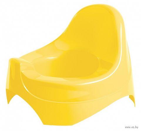 Горшок пластмассовый детский (желтый) — фото, картинка