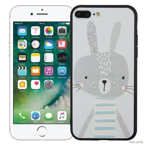 "Чехол для iPhone 7/8 Plus ""Зайка"" (серый) — фото, картинка"
