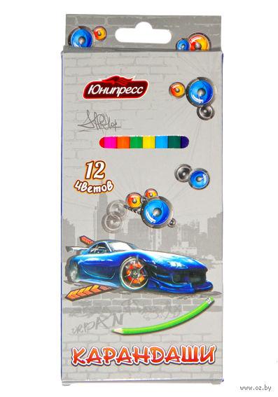 """Цветные карандаши """"Машинка"""" (12 цветов)"""