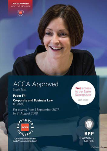 ACCA F4 Corporate and Business Law (Global). Study Text — фото, картинка