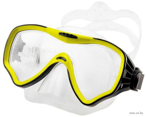 Маска для плавания 428 (силикон; жёлтая) — фото, картинка