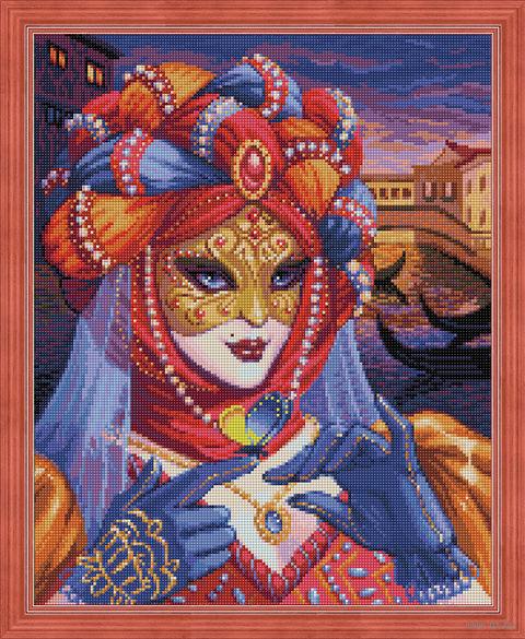 """Алмазная вышивка-мозаика """"Венецианская дама"""" (400х500 мм) — фото, картинка"""