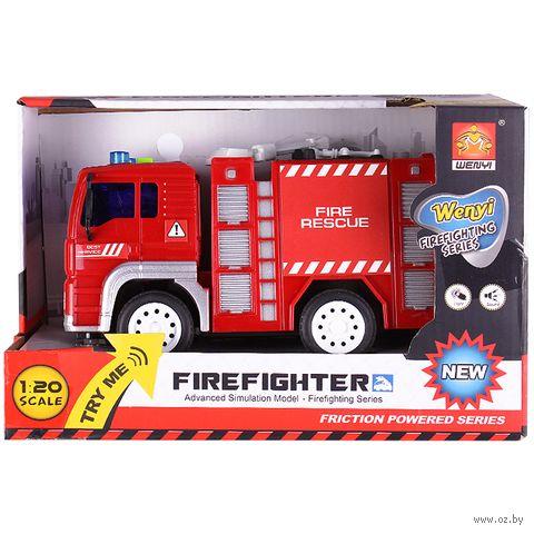 """Пожарная машина инерционная """"Firefighter"""" (арт. DV-T-454) — фото, картинка"""