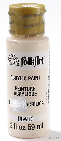 "Краска акриловая ""FolkArt. Acrylic Paint"" (светло-розовый, 59 мл; арт. PLD-00421)"