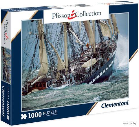 """Пазл """"Плиссон. Парусная яхта Белем. Шторм"""" (1000 элементов)"""