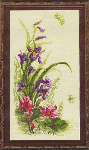 """Вышивка крестом """"Триптих. Полевые цветы"""" (220x410 мм; арт. 232) — фото, картинка"""