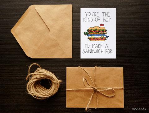 """Открытка """"Sandwich"""" (арт. 69) — фото, картинка"""