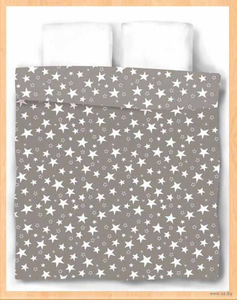 """Пододеяльник хлопковый """"Stars Grey"""" (205х220 см) — фото, картинка"""