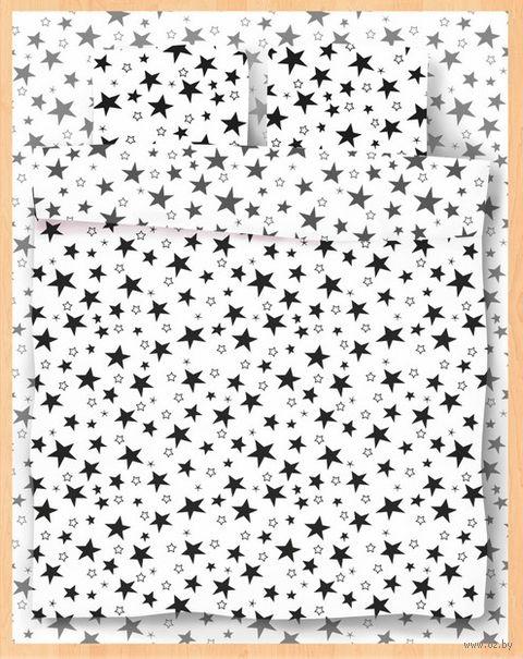 """Постельное белье """"Stars White"""" (полуторное) — фото, картинка"""