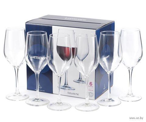 """Бокал для вина стеклянный """"Celeste"""" (6 шт.; 450 мл) — фото, картинка"""