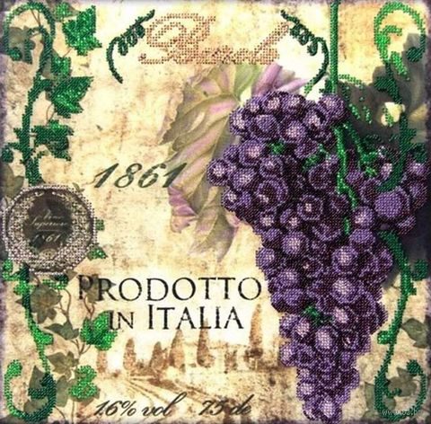 """Вышивка бисером """"Синий виноград"""" (300х300 мм) — фото, картинка"""